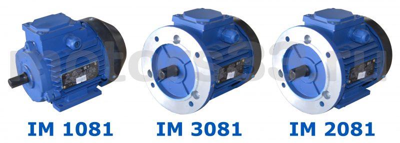 Электродвигатель АИР 63В6  0,25 кВт 1000 об/мин